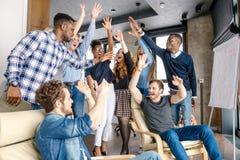 Arbeitskräfte, die positive Zukunft betrachten Lizenzfreie Stockbilder