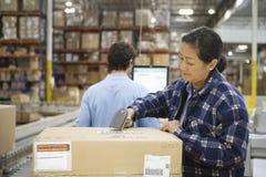 Arbeitskräfte am Lagerhaus Lizenzfreie Stockbilder