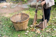 Arbeitskräfte sind ausgedehnte Blätter Lizenzfreies Stockfoto