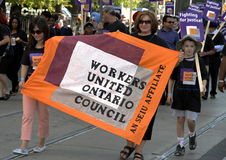 Arbeitskräfte vereinigten den Ontario-Rat Stockfotografie