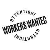 Arbeitskräfte wünschten Stempel Stockbild
