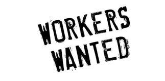 Arbeitskräfte wünschten Stempel Stockfoto