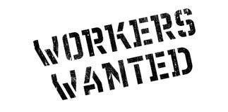 Arbeitskräfte wünschten Stempel Lizenzfreie Stockfotos