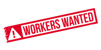 Arbeitskräfte wünschten Stempel Lizenzfreie Stockfotografie