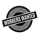 Arbeitskräfte wünschten Stempel Lizenzfreies Stockfoto