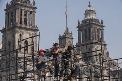 Arbeitskräfte in Zocalo Stockfotos