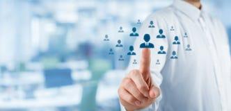 Arbeitskräftepotenzial und CRM Lizenzfreie Stockfotos