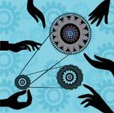 Arbeitskraft-Arbeit in der Industrie-Seite stockfotos