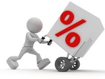 Arbeitskraft befördert Prozente Lizenzfreies Stockfoto