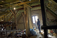 Arbeitskraft an der Baustelle Lizenzfreie Stockbilder