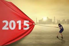 Arbeitskraft, die draußen Nr. 2015 zieht Lizenzfreie Stockbilder