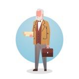 Arbeitskraft-Fachmann-Besetzung Mann-Professor-Teacher Icon University Stuff stock abbildung