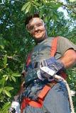 Arbeitskraft im Sicherheits-Gang Lizenzfreie Stockbilder