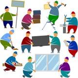 Arbeitskraft-Lader-Stand-Gegenstände Lizenzfreies Stockfoto