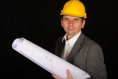 Arbeitskraft mit Lichtpausen Stockbilder