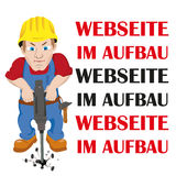 Arbeitskraft Webseite im Aufbau Lizenzfreies Stockbild