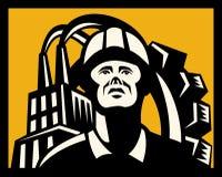 Arbeitskraftaufbaufabrik lizenzfreie abbildung