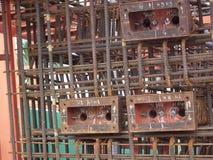Arbeitskraftbeitrags-Spannungsbrücke Stahlstange Baus konkrete lizenzfreie stockfotografie