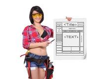 Arbeitskraftfrau Lizenzfreie Stockfotografie