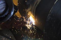 Arbeitskraftschweißensrohr Stockbilder