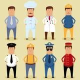 Arbeitskraftset Stockbild