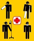 Arbeitskraftverletzung im Dienst Lizenzfreie Stockfotos
