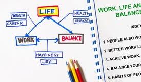 Arbeitsleben und Balancenkonzept Stockfoto