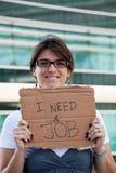 Arbeitslose Frau stockfoto