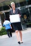 Arbeitslose Geschäftsfrau Stockfotografie