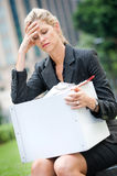 Arbeitslose Geschäftsfrau Lizenzfreie Stockfotografie
