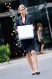 Arbeitslose Geschäftsfrau Lizenzfreies Stockfoto