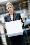 Arbeitslose Geschäftsfrau Stockfoto