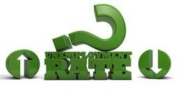 Arbeitslosenquote - auf oder ab Lizenzfreies Stockbild
