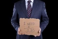 Arbeitsloser Geschäftsmann stockfotografie