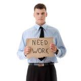 Arbeitsloser Geschäftsmann Lizenzfreies Stockfoto