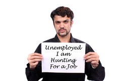 Arbeitsloser indischer Mann lizenzfreie stockfotografie