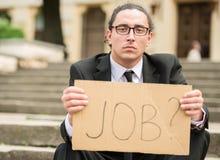 Arbeitsloser Mann stockbilder