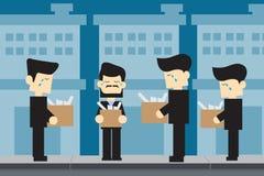 Arbeitsloses Karikaturdesign der MÄNNER Stockfotos