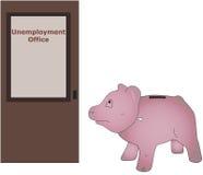 Arbeitslosigkeits-Büro Stockbild