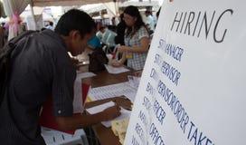 Arbeitslosigkeitsfrage Stockfotografie