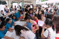 Arbeitslosigkeitsfrage in Manila, Philippinen Lizenzfreies Stockfoto