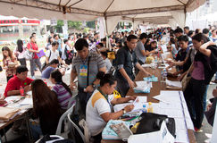 Arbeitslosigkeitsfrage in Manila, Philippinen Stockfotografie