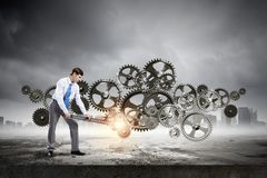 Arbeitsmechanismus Lizenzfreies Stockbild