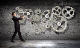 Arbeitsmechanismus Stockbild