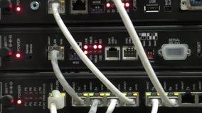 Arbeitsnetzwerkausrüstung stock video footage