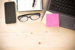 Arbeitsplatz-Bürogeschäft Stockbild