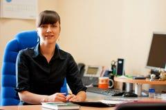 Arbeitsplatz der Geschäftsfrau Stockfoto