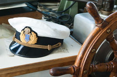 Arbeitsplatz des Kapitäns Stockbilder
