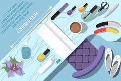 Arbeitsplatz für Nagelpflege Stockbilder