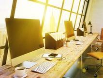 Arbeitsplatz im Büro Stockfotografie